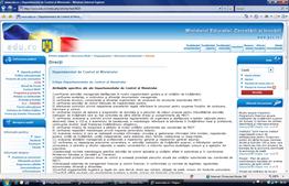 Departamentul de control al ministrului de la ...MECT. Click pe imagine.