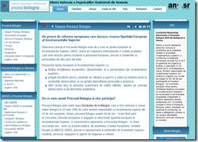Un site dedicat procesului Bologna. http://www.bologna.ro (Click!))