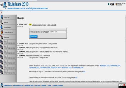 Site Titularizare 2010.