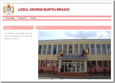 """site Liceu """"George Barițiu"""" - Brașov"""