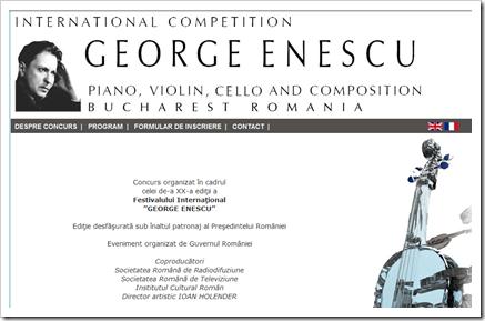 """Concursul Internațional """"George Enescu"""""""