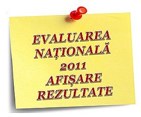 EVALUARE NAȚIONALĂ 2011