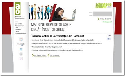 admitere online