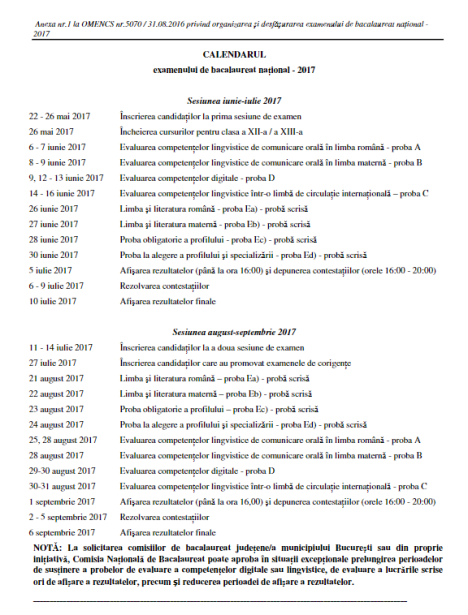 bacalaureat-calendar