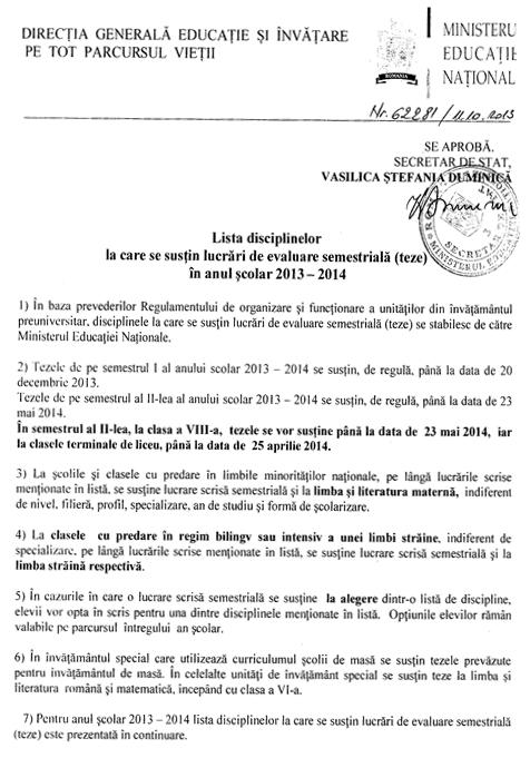 lista_lucrari evaluare semestriala_2013-2014